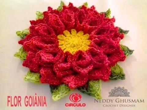 FLOR DE GOIÂNIA EM CROCHÊ -NEDDY GHUSMAM - YouTube