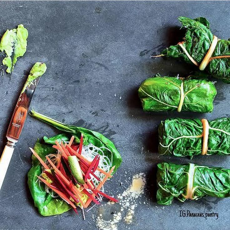 "Chard Wraps:  Download our FREE ThinTea Recipe App for this #CleanEating Recipe & more!! Simply search in the App Store: ""ThinTea"""