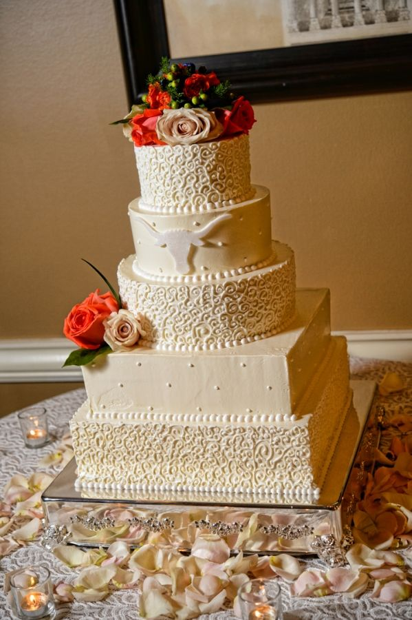 longhorn wedding cake  Wedding at Arlington Heights United Methodist and The Fort Worth Club