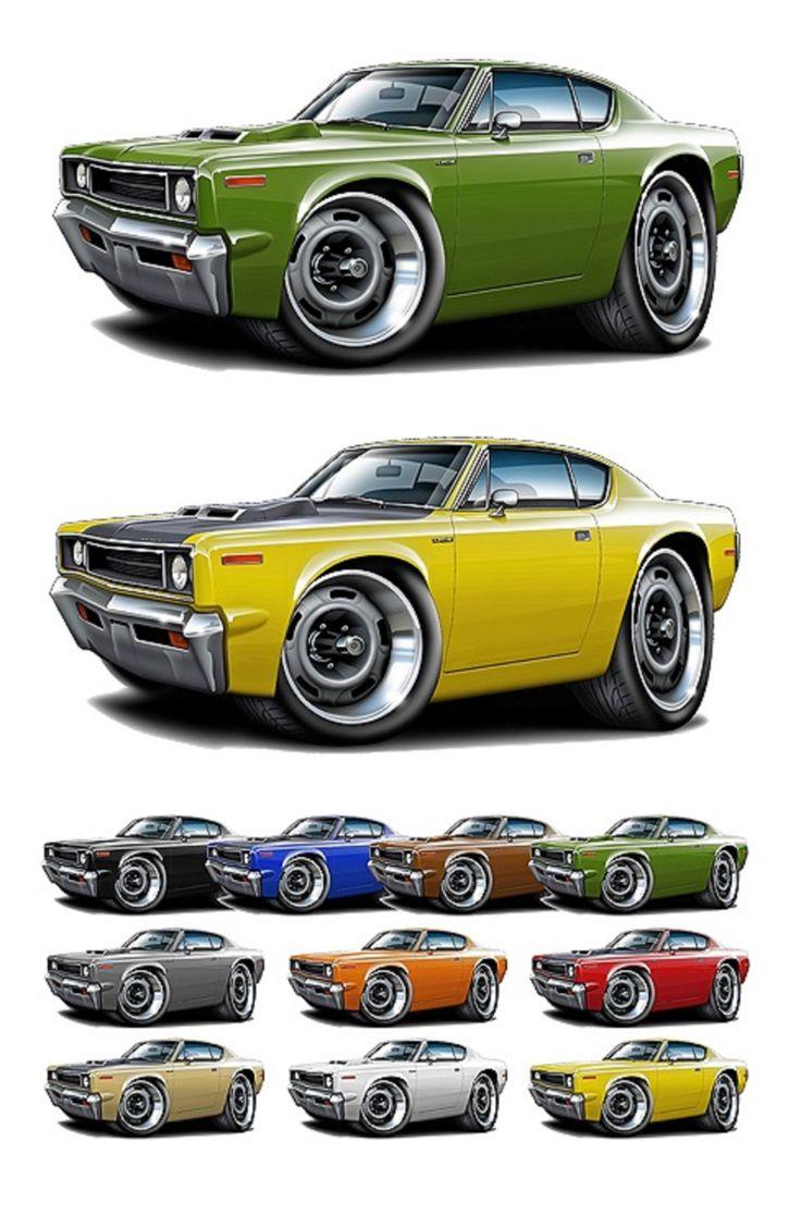 1969 70 rebel machine http 1maddmax com gf_1970_amc_rebel_machine cartoonvehiclesmuscle cars
