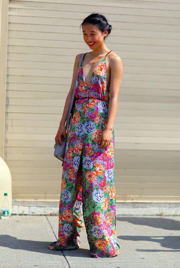 Floral Jumpsuit NYC | Street Fashion | Street Peeper | Global Street Fashion and Street Style