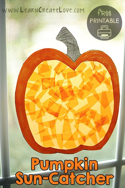 Printable Pumpkin Sun-Catcher Craft