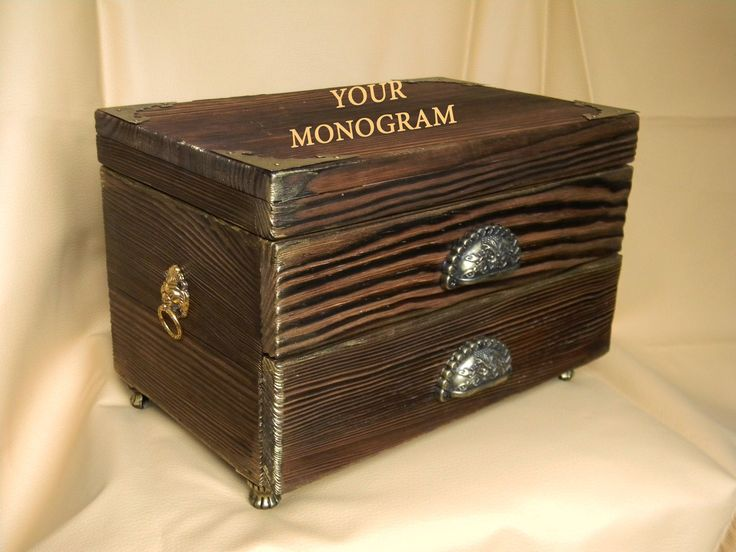 Watch box personalized Man cave gift Custom watch box with monogram Wood storage box with tiger Personalized Watch Case for men Gift for men