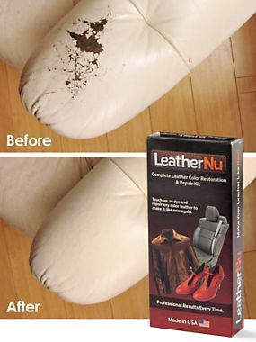 Repair worn, stained, discolored, or torn leather with our quick Repair Kit | Solutions.com #Leather #Repair #Clean