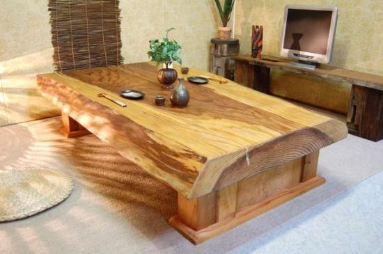 http://shop.shikisai-mokkou.com/?pid=31825629 ・四季彩木工 (【 新材 】大迫力 杉 無垢天然一枚板 座卓 ローテーブル ちゃぶ台)