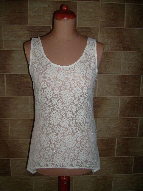 Lady at home DIY Blog: DIY lace top Tutorial jak uszyć koronkowy top