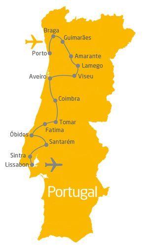 Portugal-Rundreise: 10 Tage von Porto bis nach Lissabon
