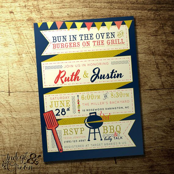 82 best images about bbq baby shower - baby q shower on pinterest, Baby shower invitations