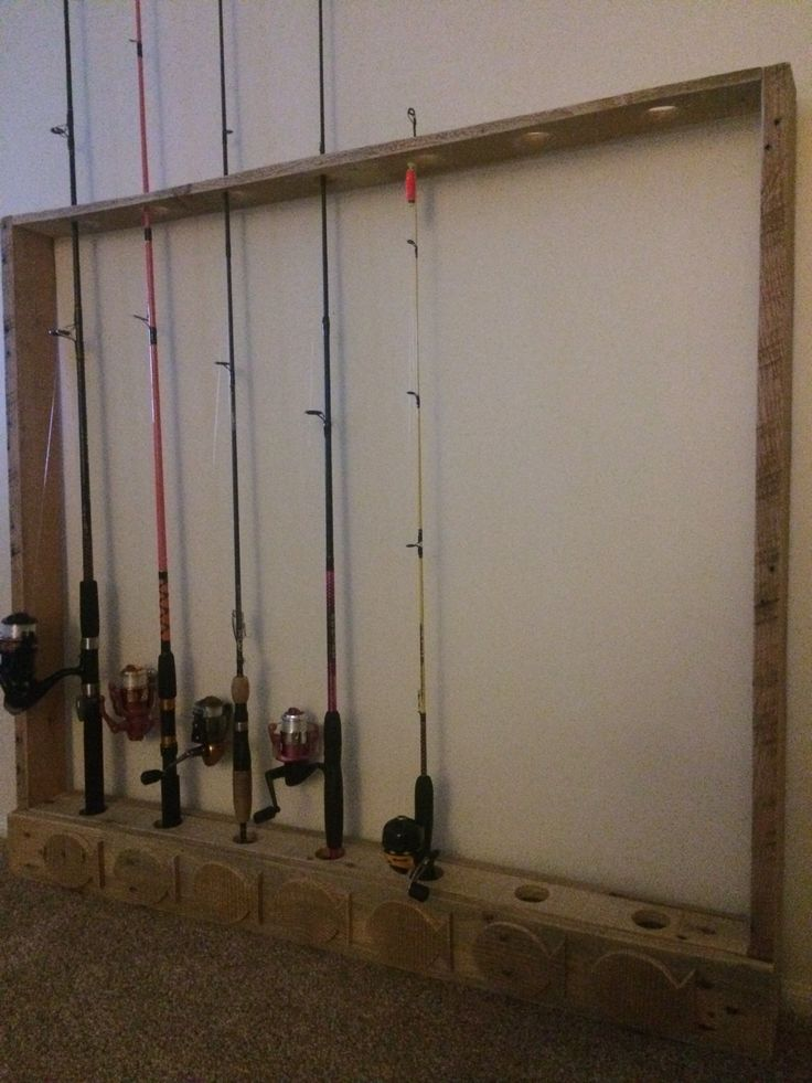 17 best images about fishing on pinterest wall racks for Fishing pole wall rack