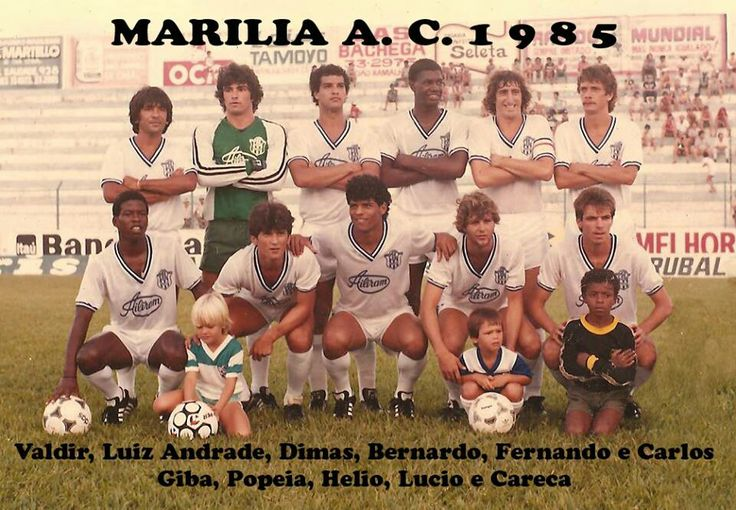 Marilia AC of Brazil team group in 1985.
