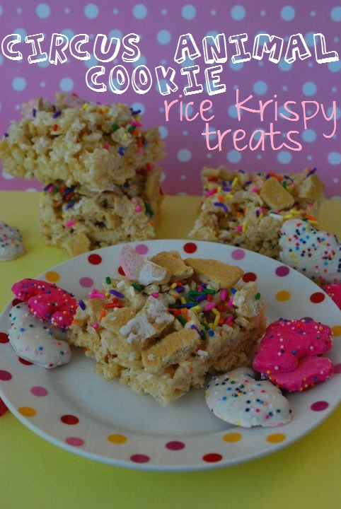 circus animal rice krispie treats #Food #Recipe #Yummy #Meals #Dinner #Chef #Cook #Bake #Culinary