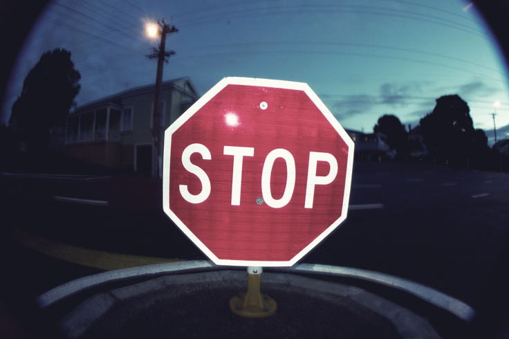 STOP - Fish eye lens - Anna Rogerson