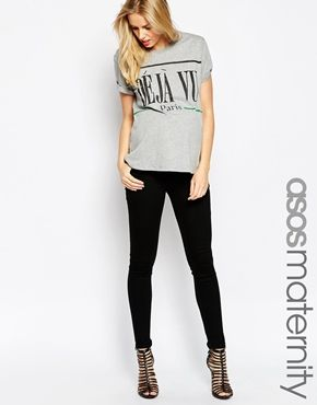 ASOS Maternity Ridley Skinny Jean In Clean Black With Under The Bump Waistband £30.00