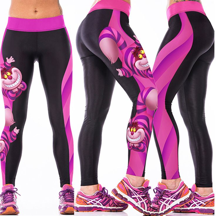 Womens 3D Yoga GYM Pants Sports Running Cropped Long Leggings Fitness Jogging | eBay