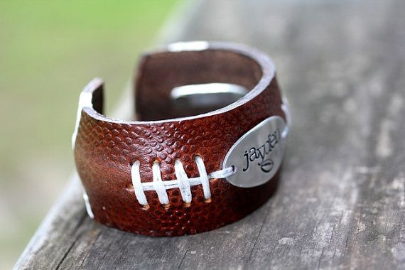 FOOTBALL FANS Football Bracelet with Handstamp of by BELOdesigns