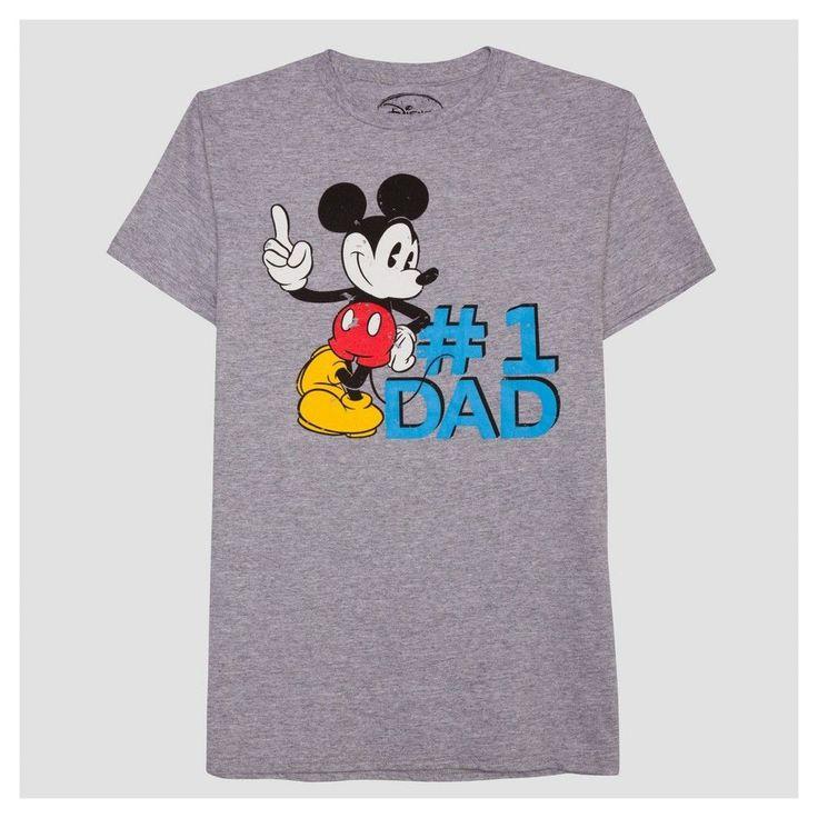 Men's B&t Mickey #1 Dad Big & Tall T-Shirt - Heather Gray Xlt