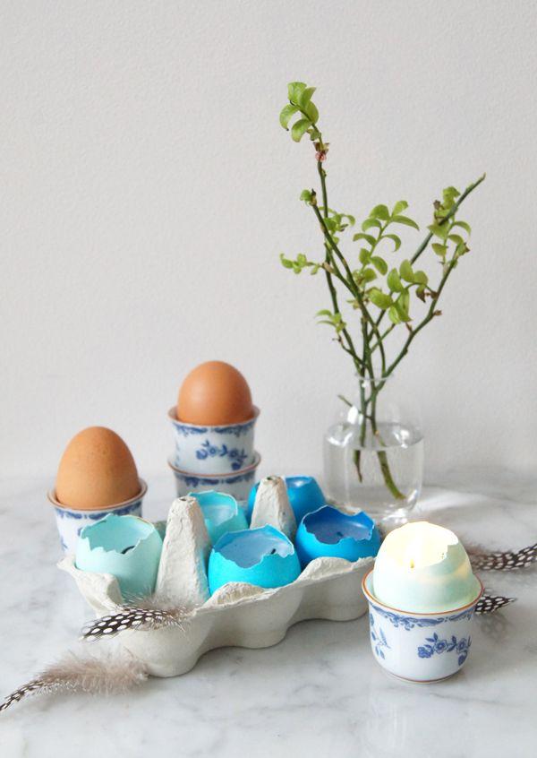 Mini Piccolini - Make eggshell votive candles for Easter