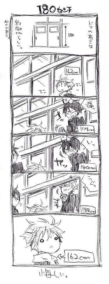 Haikyuu - hinata be glad ur small !! U won't find it comfortable to bang ur head like tsukishima -.-' poor boy