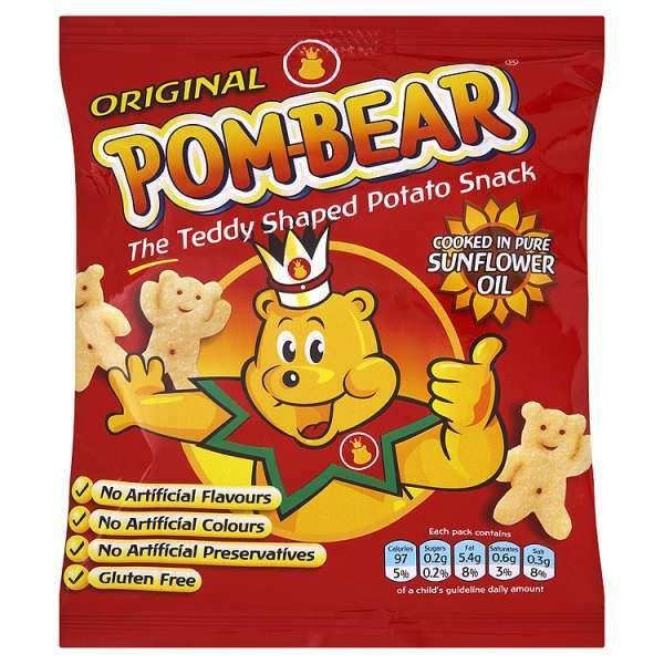 pom-bear teddy bear crisps
