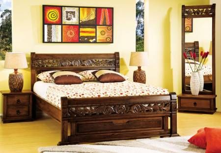 Camas en madera rustica buscar con google imagenes for Mueble jamar