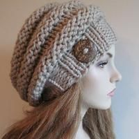 Bulky Slouch Beanie Beret Beehive Hat - via @Craftsy