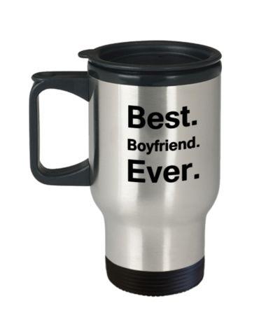 Best Boyfriend Ever Travel Mug Travel Coffee Mugs Tea Cups 14 OZ Gift Ideas travel Coffee mugs tea cup Gift Ideas Boyfriend Girlfriend Boy Girl Friend
