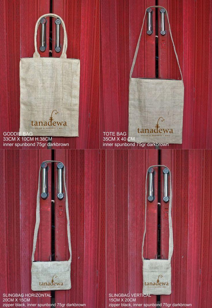 Market bag, Tote bag, Sling Bag, all from goni / burlap