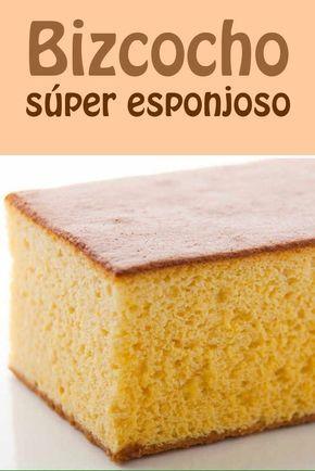 Bizcocho súper esponjoso #bizcocho #receta #superesponjoso