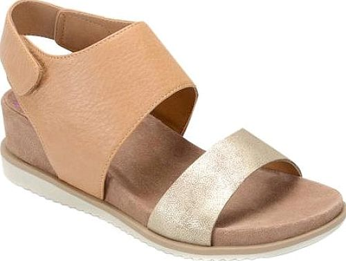 Comfortiva Leslie Wedge Slingback in Sand. The refined-yet-casual Comfortiva  Leslie Wedge Slingback makes a fabulous statement.