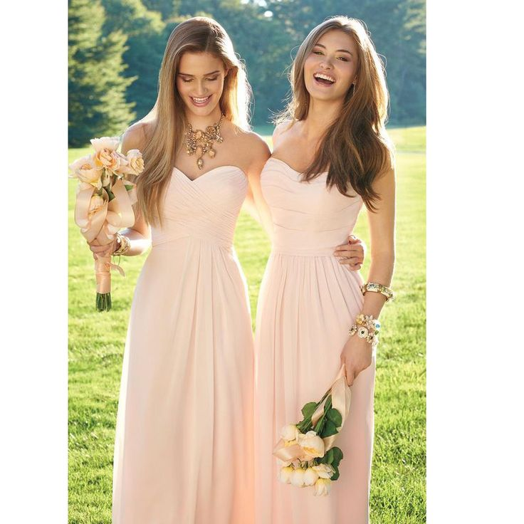 Sweetheart Floor Length Chiffon Bridesmaid Dresses Ruched Details Pst0018 on Luulla