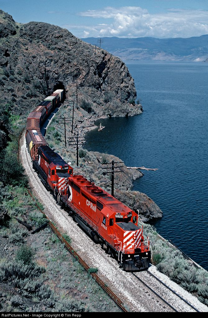 RailPictures.Net Photo: CP 5826 Canadian Pacific Railway EMD SD40-2 at Cherry Creek, British Columbia, Canada by Tim Repp - via http://bit.ly/epinner