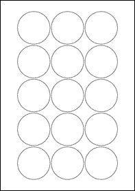EU30022  51mm Circle Blank Label Template