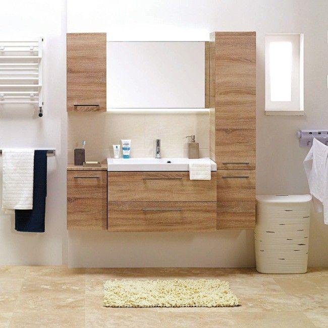 Szafka Cooke&Lewis Lena pod umywalkę Jenny 60 cm dąb sonoma - Pod umywalkę - Szafki - Meble łazienkowe - Meble - Urządzanie