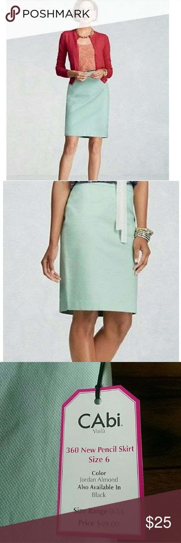 "NWT CAbi pencil skirt! Brand new with tags pencil skirt in ""jordan almond"" color! 98% cotton 2% spandex CAbi Skirts"