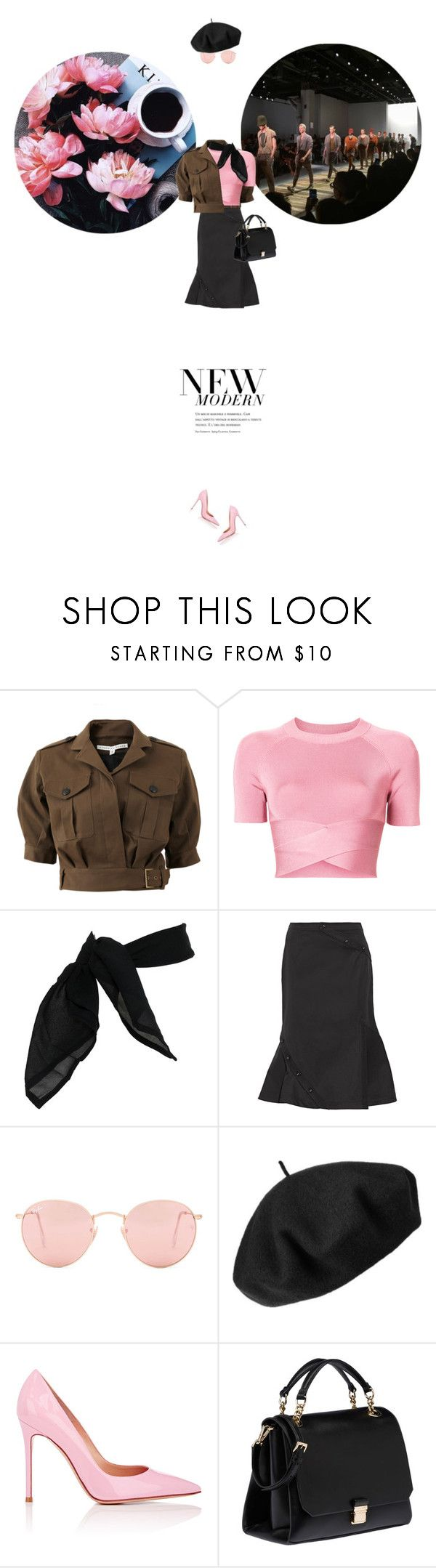 // 1331. New Modern. by lilymcenvy on Polyvore featuring T By Alexander Wang, Veronica Beard, Monse, Gianvito Rossi, Miu Miu, Betmar, TC Fine Intimates, Ray-Ban, Amica and modern