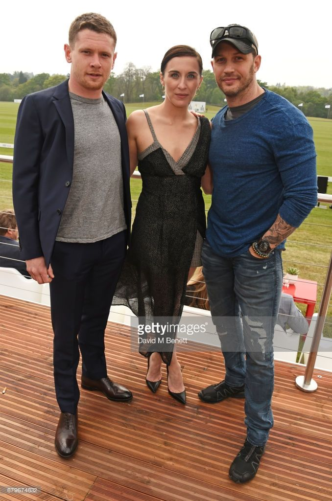 Jack O'Connell, Vicky McClure and Tom Hardy attend the Audi Polo Challenge at Coworth Park on May 6, 2017 in Ascot, United Kingdom.