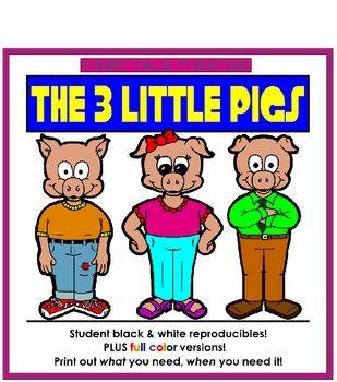 611 best Three little pigs images on Pinterest  School Teaching