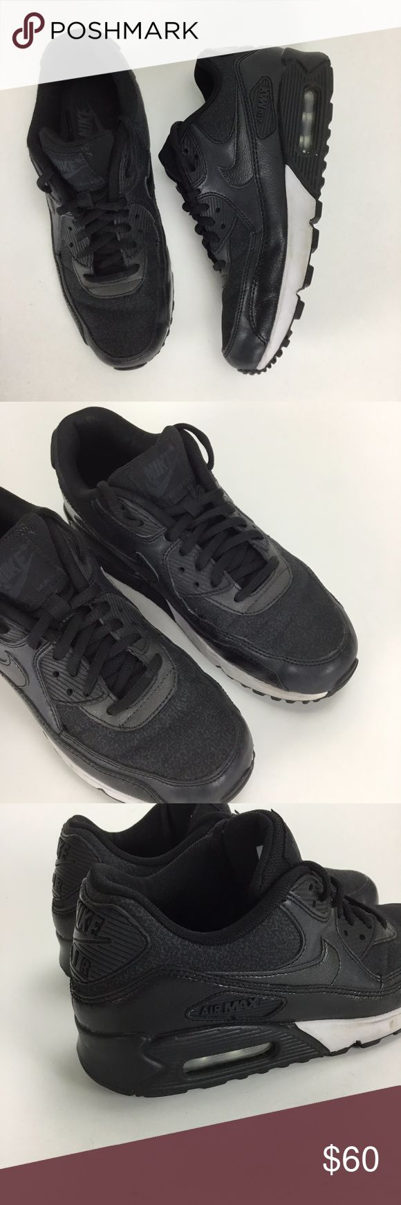 Nike Air Max 1 Black White Leather & Nylon Size 8 Nike Air Max 1 Black & White Leather & Nylon Size 8 . Lace Up. Excellent Condition Nike Shoes Athletic Shoes