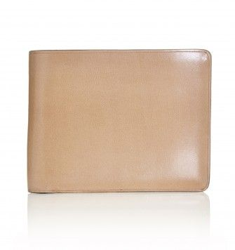 SEFTON BIFOLD AND COIN LEATHER WALLET. Natural. £95.00