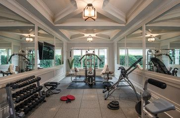 Current exercise equipment to be moved.  This is the exercise room in our Mediterra house.