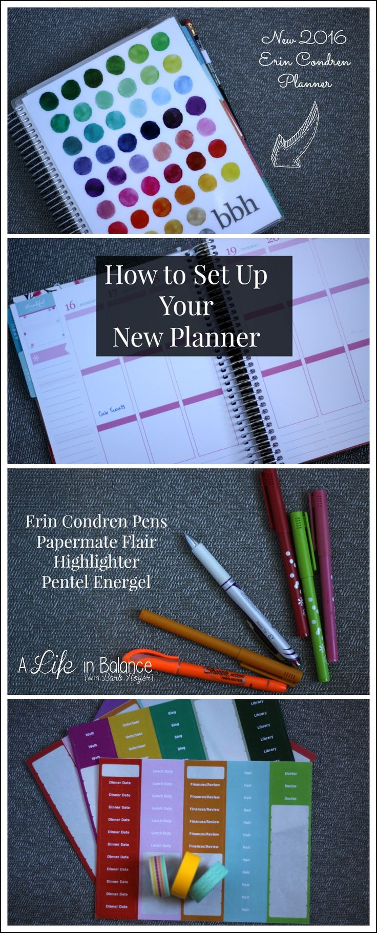 4 Simple Steps to Setting Up Your New Planner -- Getting started with your planner requires only a few supplies and patience with tweaking your planning system. You'll grow to love your Erin Condren planner!