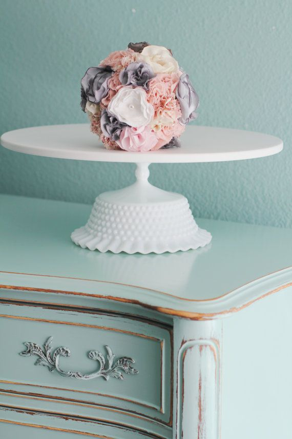 "16"" Wedding Cake Stand Pedestal / Wedding Centerpiece / Wedding Decor Decoration / White Wedding Pedestal / Vintage Inspired Victorian Style on Etsy, $180.00"
