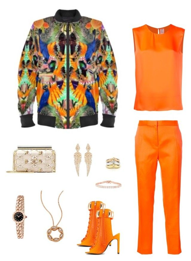 """""""Legacy"""" jacket ootd by guutanii on Polyvore featuring polyvore, fashion, style, Maison Rabih Kayrouz, Privileged, Oscar de la Renta, Bulgari, Stephen Webster, Roberto Coin, Cartier, Kenneth Jay Lane and clothing"""