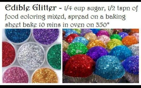 Edible glitter...for a birthdayDesserts, Recipe, Sweets, Cupcakes, Edible Glitter, Food, Cake Decor, Parties Ideas, Baking