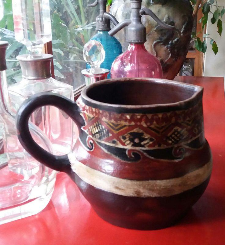 jarra grande pieza unica greda