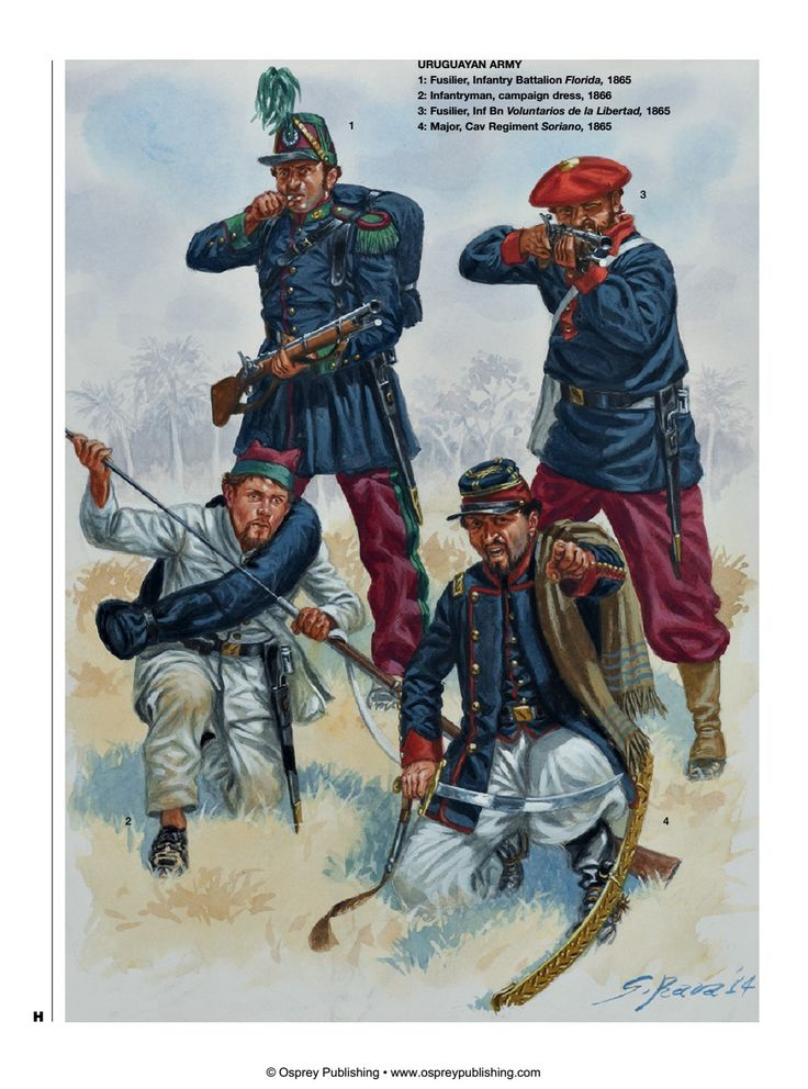 Uruguay; Infantry 1865-66