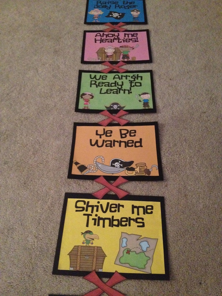 pirate behavior chart @Charity Stewart ...I thought this was adorable for younger kids!