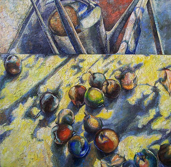 Papageorgiu Andrea  'Summer still life'  2014  Oil on fiberboard