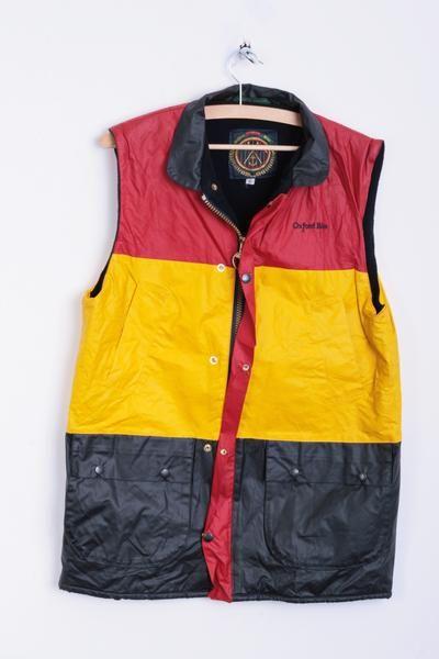 Oxford Blue Mens S Bodywarmer Vest Gilet British Millerain - RetrospectClothes