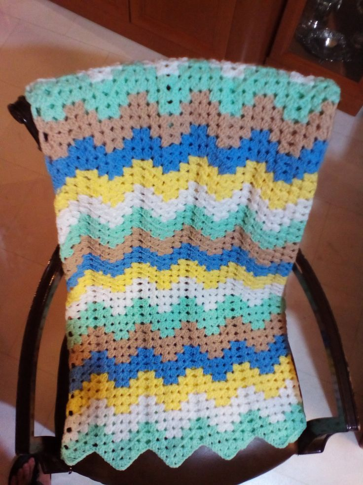 Baby crochet blanket, blanket for baby's nursery, by stellaknittingshop on Etsy